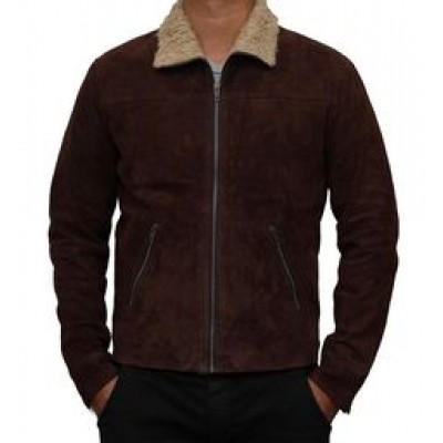 Rick Grimes Brown Suede Leather Jacket | Distressed Leather Jacket