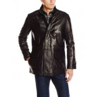 Distressed Men's Smooth Leather Car Coat | Men's Leather jacket