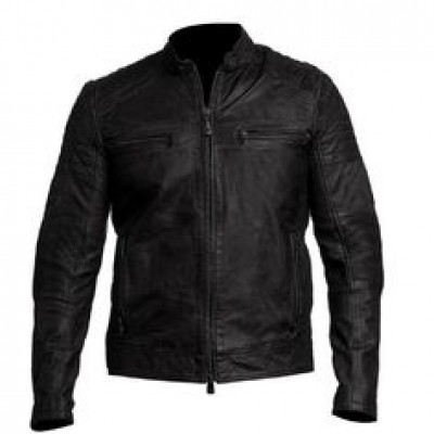 Men's Bike Racer Black Leather Jacket | Leather Jacket For Men's