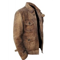 Expendables 2 Jason Leather Jacket | Mens Brown Distressed Leather Jacket