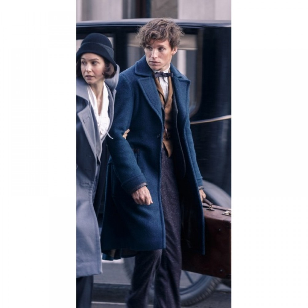 Fantastic Beasts Redmayne Newt Scamander Eddie long Coat | Movies Costumes Coats