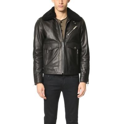James Dean Removable Collar Leather Jacket | Black Jackets