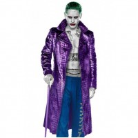 Jared Leto Joker Suicide Squad Crocodile Pattern Coat | Jokar Coat