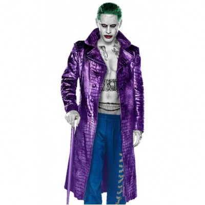 Jared Leto Joker Suicide Squad Crocodile Pattern Coat | Jokar Coat