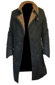 Ryan Gosling Blade Runner 2049 Waxed Cotton Coat | Waxed Cotton Field Coat | Faux Shearling