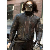 Sebastian Stan Bucky Barnes Jacket | Distressed Jacket