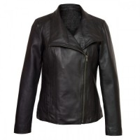 Cayla Black Leather Biker Leather Jacket   Mens Black Jackets