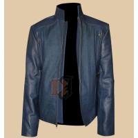 The Winter Soldier Captain America Chris Evans Blue Leather Jacket | Blue Leather Jacket
