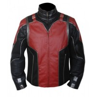 Ant Man Red and Black Leather Jacket | Movies Jackets