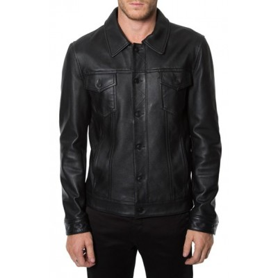 ANTHONY MACKIE SAM WILSON FALCON Leather JACKET | Black jackets