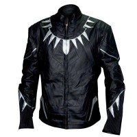 Captain America Civil War Men's Black Panther Jacket | Black Panther Biker Jacket
