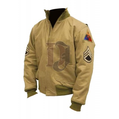 Brad Pitt Fury Jacket | Movie Stylish Jacket For Sale