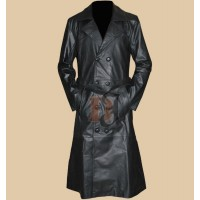 Buffy The Vampire Slayer Spike's Black Trench Leather Coat | Black Coats