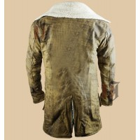 The Dark Knight Rises Bane Fur Coat | Tom Hardy Distressed Coat