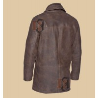 Rare Vintage Striking Warm Shearling Sheep Long Coat | Distressed Leather Coat