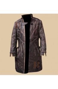 Watch Dogs Cosplay Costume Jacket - Aiden Pearce Trench Coat | Distressed Trench Coat