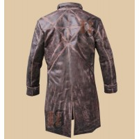 Watch Dogs Cosplay Costume Jacket - Aiden Pearce Trench Coat   Distressed Trench Coat