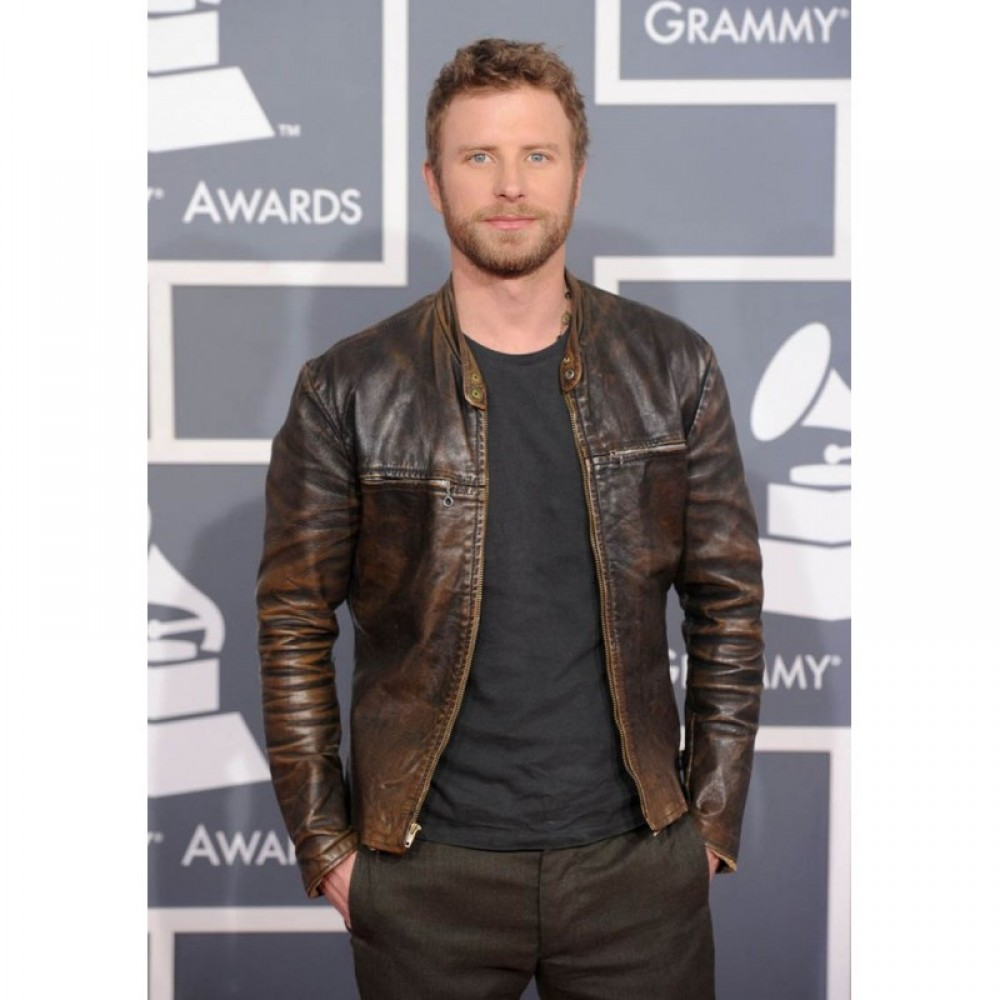 Brown Leather Jacket - Celebrity Jackets