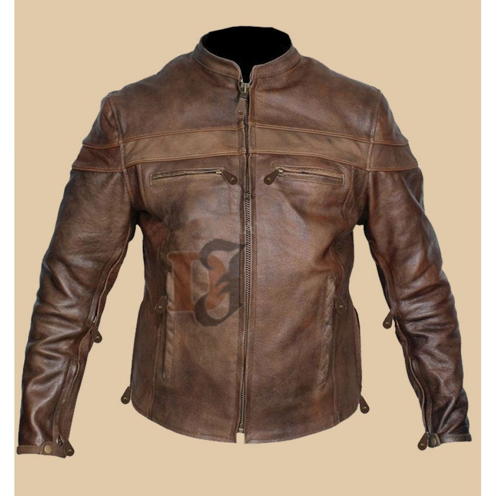 Vintage Style Cafe Racer Brown Distressed Jacket | Distressed Jackets