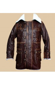 The Dark Knight Rises Bane Cowhide Brown Coat | Distressed Coat