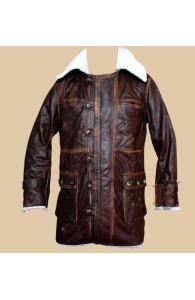 The Dark Knight Rises Bane Cowhide Brown Coat | Distressed Coat
