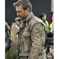 Defiance Grant Bowler (Nolan) Leather Jacket | 3 in 1 Brown Leather Jacket