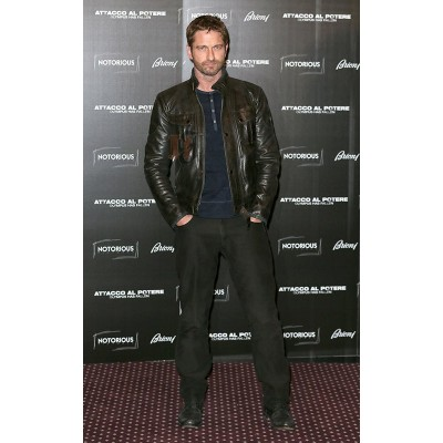 Stylish Gerard Butler Distressed Black Jacket | Rome Jackets