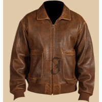 Scully Vintage Distressed Bomber Leather Jacket | Distressed Jackets