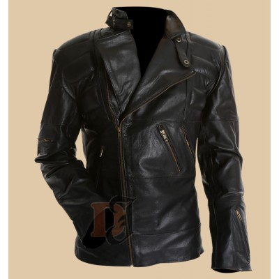 Staying Alive Movie John Travolta Leather Jacket | Black Biker Jacket