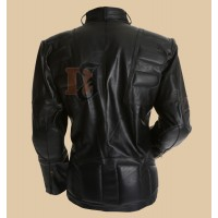 Staying Alive Movie John Travolta Leather Jacket   Black Biker Jacket