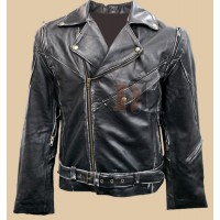 Terminator Vintage Distressed Biker Jacket | Arnold Schwarzenegger Jackets | Brando Leather Jackets