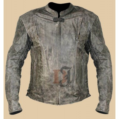 Volcano Men's NF-8150 Distressed Leather Motorcycle Jacket | Biker jackets Men's
