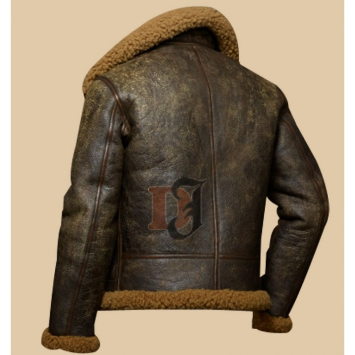 autumn shoes hot-selling fashion shop for best Buy Military Distressed Brown Dover Shearling Bomber Jacket