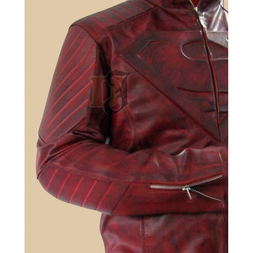 Superman Smallville Red Leather Jacket | Distressed jackets