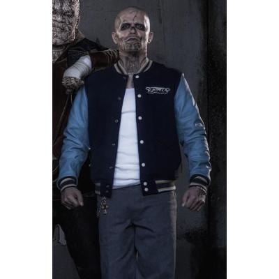 Suicide Squad Jay Hernandez Chato Santano El Diablo Varsity Cotton jacket