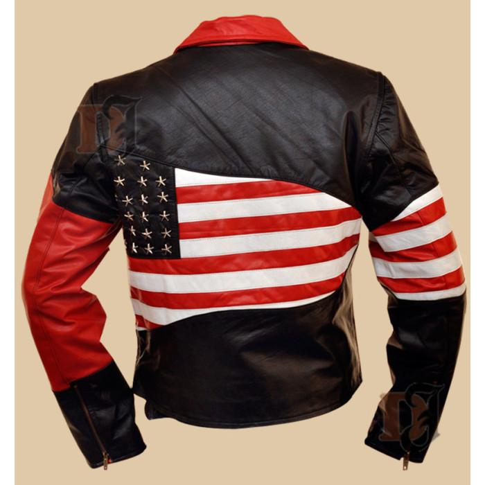 Buy American Flag Jacket Men S American Flag Biker