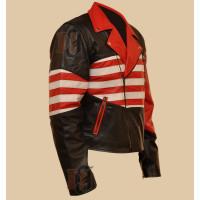 American Flag Jacket | Men's American Flag Biker Leather Jacket | American Jackets
