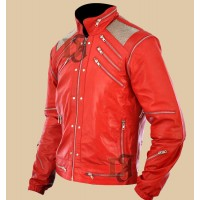 Michael Jackson Beat It Jacket | Red Leather jacket For Sale