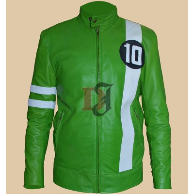 Ryan Kelley Ben Tennyson Ben 10 Green Jacket | Biker Green Jackets