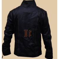 Black Rivet Men's Motorcycle Leather Jacket | Black Leather Jackets