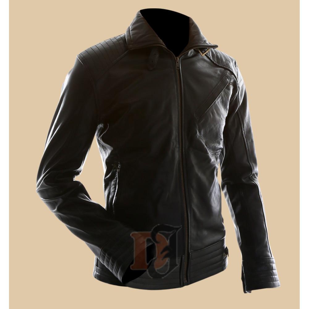 Bourne Legacy Jeremy Renner Stylish Leather Jacket   Mens Black Jackets