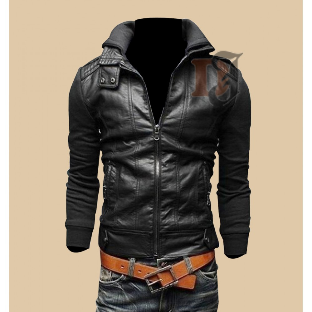 Men's leather jackets on sale by ALLSAINTS and Brooks Brothers, in chic biker and moto-inspired styles, look incredible with our men's jeans on sale. Or pair up some distressed jeans with one of our men's bomber jackets on sale before heading out for happy hour or a night out.