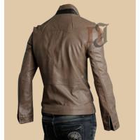 Mens Fashion Biker Style Pocket Leather Jacket | Distressed jackets