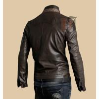 Mens Fashion Stylish Pocket Brown Leather Jacket | Dark Brown Jackets