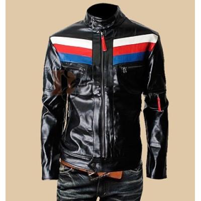 Mens Casual Rider Slim Fit Black Leather Jacket | Black Jackets