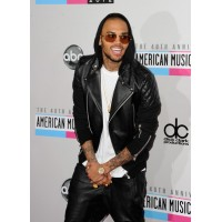 Chris Brown Bomber Black Hoodie Leather Jacket | Black Jackets