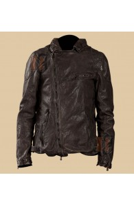 Stunning Dark Brown Distressed Leather Jacket | Apparel For Men