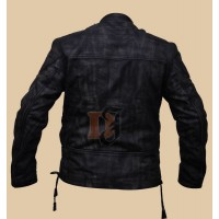 Black Distressed Motorcycle Jacket | Distressed Black Jacket