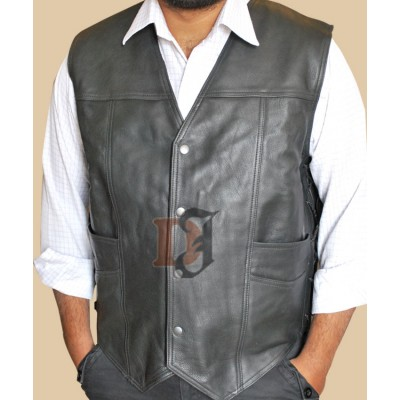 Walking Dead Daryl Dixon Vest | Distressed Leather Vest
