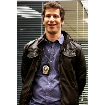 Brooklyn 99 Andy Samberg (Jack Peralta) Leather Jacket | Black Leather Jacket